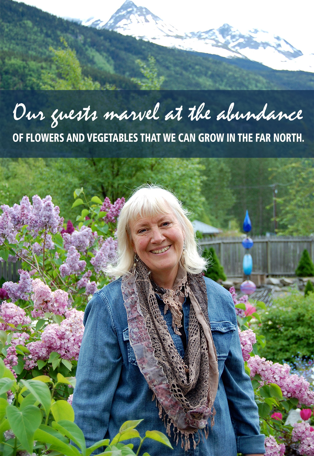Beautiful flower garden skagway alaska jewell gardens charlotte says gardening is in her blood she cannot imagine living without plants surrounded by them propagating and enjoying them in her home izmirmasajfo