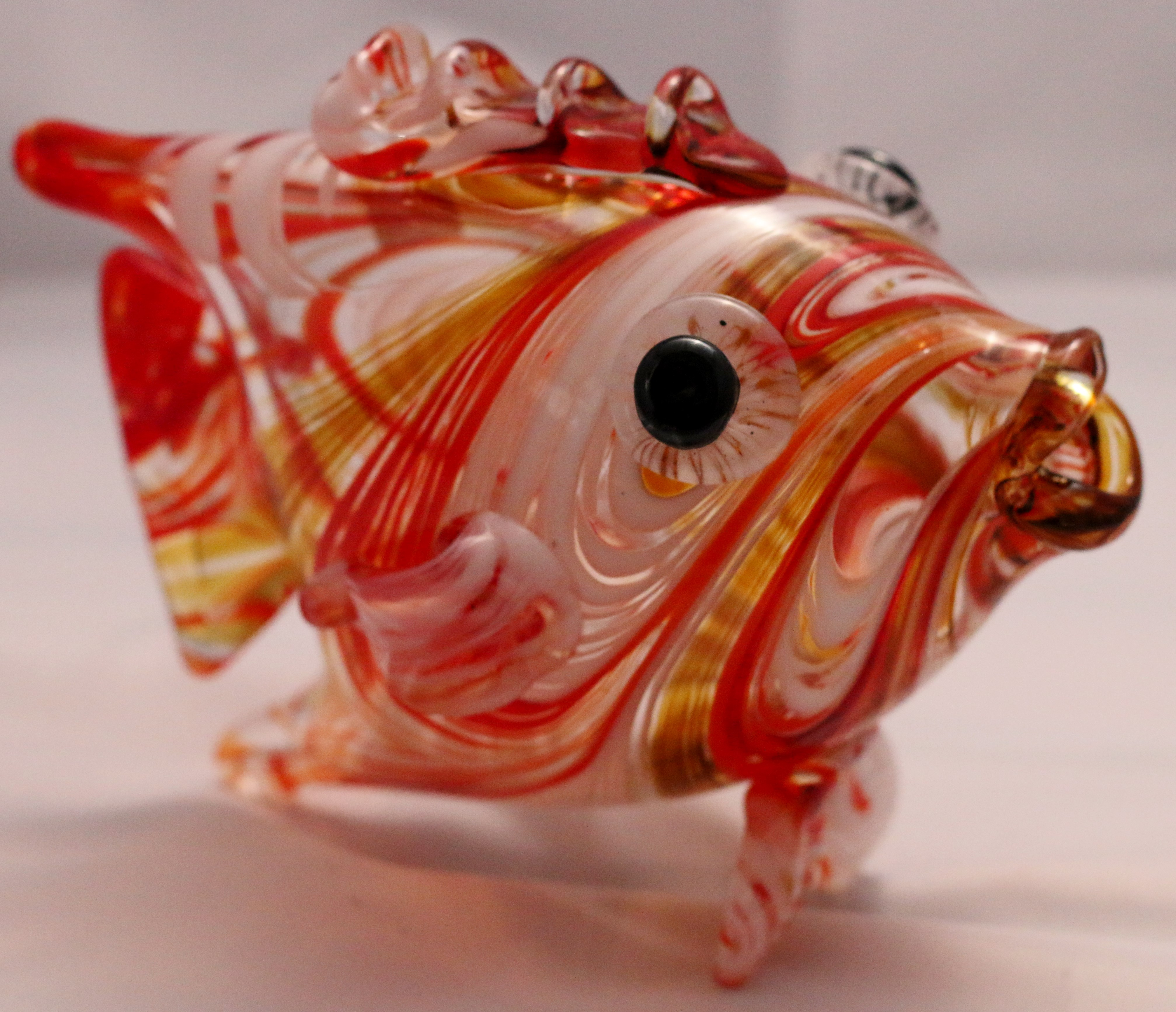 handblown glass fish