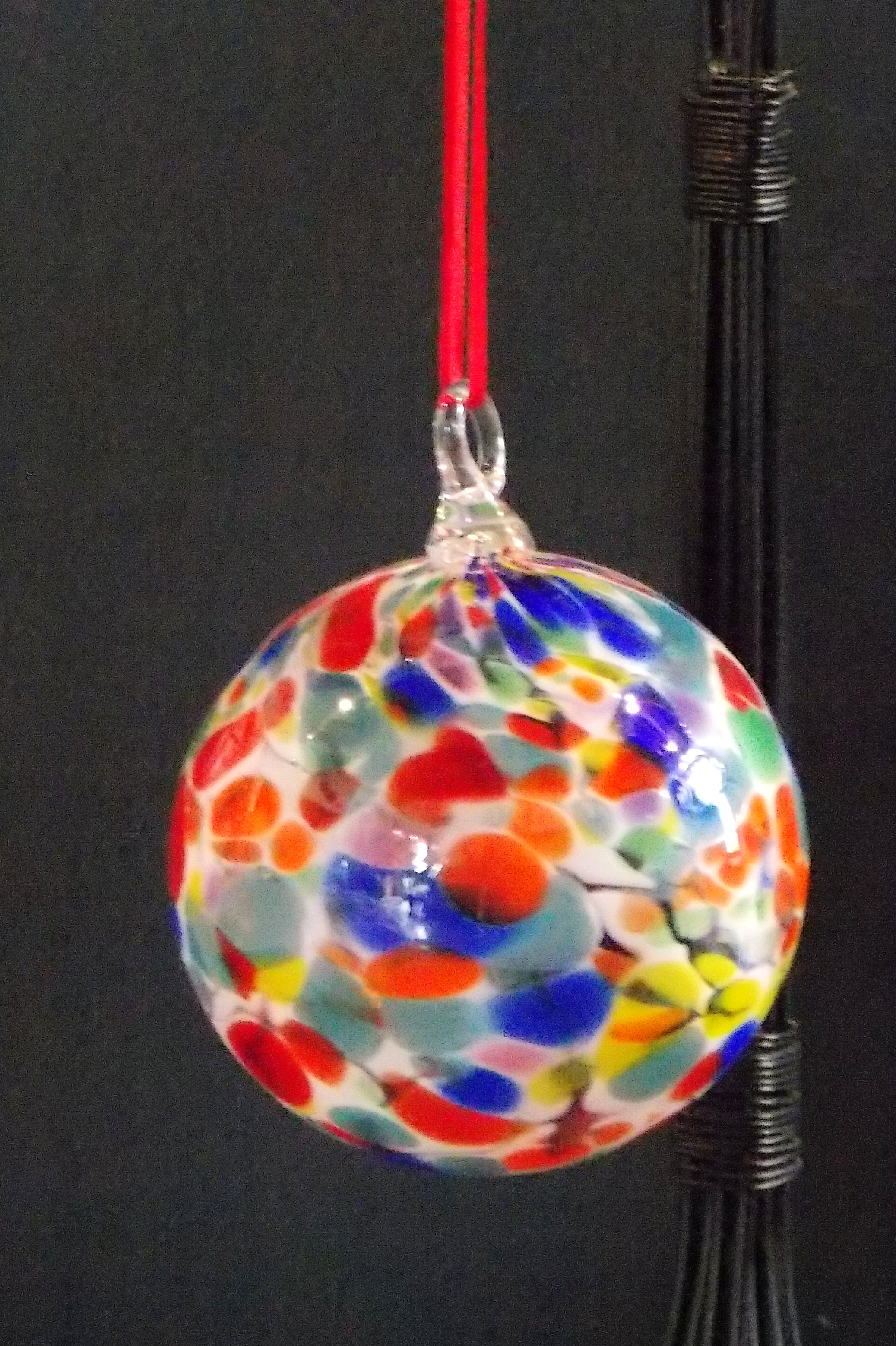 Spotted Rainbow Ornament